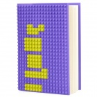 Creative DotBook Notebook w/ Silicone Cover - Purple + Yellow (Approx 100 Pages)