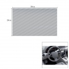 Woven Pattern 3D Carbon Fiber Paper Decoration Sheet Car Sticker - Silver(20 x 50cm)