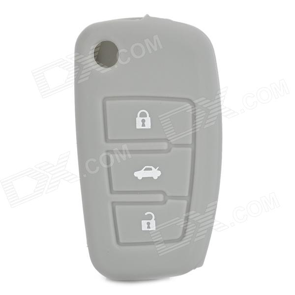 Protective Silicone Case for Audi 3-Button Remote Key - Grey