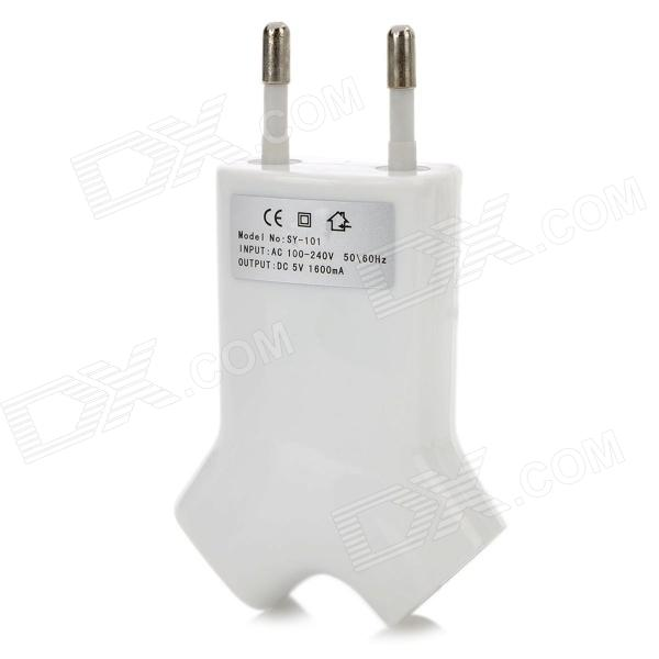 Dual USB AC Charger Power Adapter for Iphone / Samsung / Nokia + More (AC 100~240V / EU Plug)