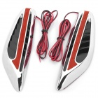1W 15lm 8-LED Red Light Car Steering Lamp (Pair / 12V)