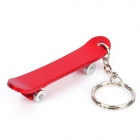 Unique Skateboard Shaped Bottle Opener Keychain - Random Color
