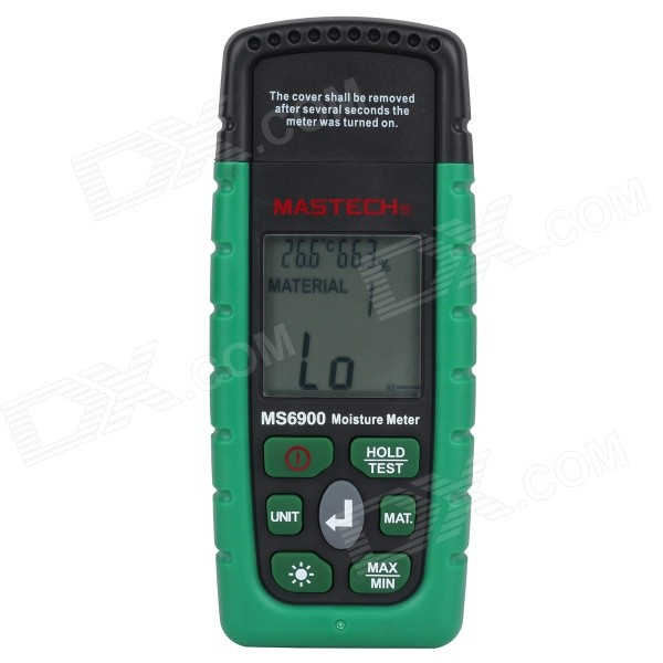 3-in-1 1.8 LCD Digital Wood Timber Moisture Meter Tester - Green (2 x AAA)