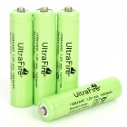 "Ultra Fire Rechargeable ""1500mAh"" 1.2V NiMH AAA Battery - Green (4-Piece Pack)"