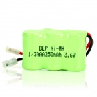 Delipow 250mAh 3.6V Rechargeable Ni-MH Battery for Wireless Telephone - Green