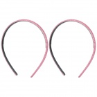 Stylish PVC + Sequins Slim Headbands - Pink (2-Piece Pack)