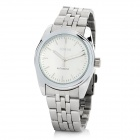 SINOBI Steel Round Self-Winding Mechanical Analog Waterproof Wrist Watch - White + Silver