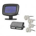 "LH-813B 2.1"" LCD Display Screen Car Backup / Parking Sensor System - Silver + Black"