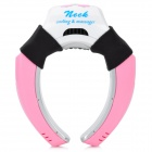Portable USB Vibration Cooling Neck Massager - Pink (2 x AAA)
