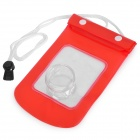 Waterproof TPU Case Bag for Camera - Red