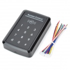 Touch Sensor / Contactless EM Access Control Card Reader - Black + Silver