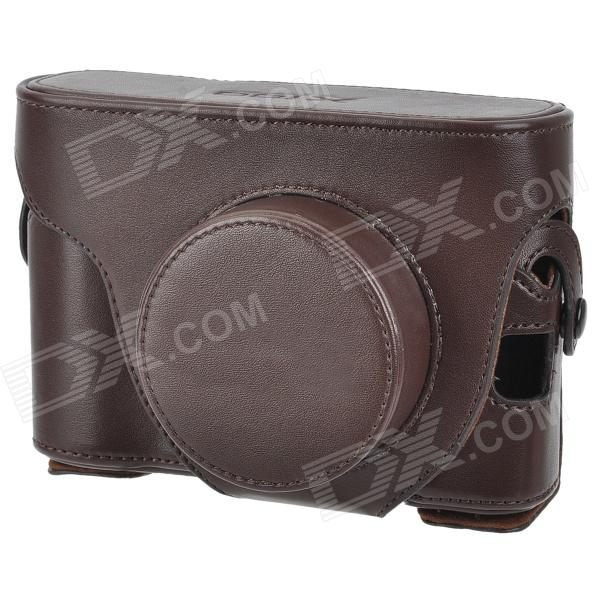 Protective PU Leather Case Bag for Fujifilm X100 - Brown fujifilm wcl x100 конвертер для fujifilm x100t x100s x100 черный