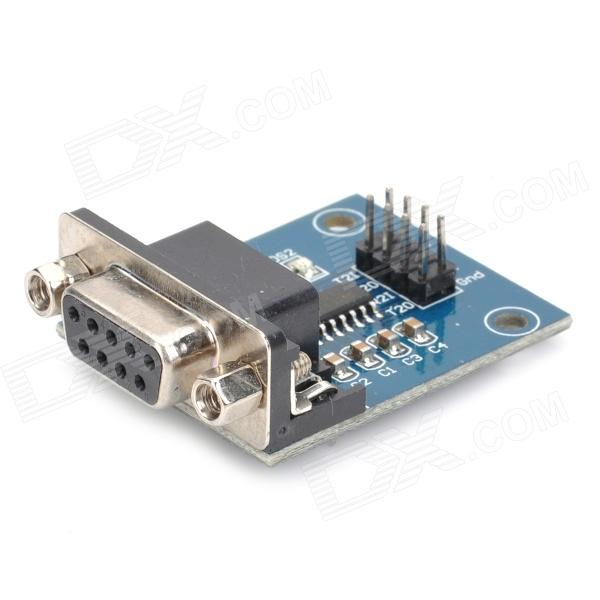 RS232 Serial Port To TTL Converter Module w/ Transmitting and Receiving Indicator rs232 to rs485 interface communication connector serial port converter driver grey green