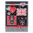 Flag of UK Pattern Folding Cosmetic Makeup Mirror - Black + Red