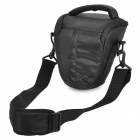 Designer's Padded Triangle Protective Bag Case w/ Rain Cover for Canon DSLR - Black