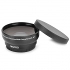 52mm 0.45X Pro Digital Precision Camera Wide Angle Conversion Lens w/ Macro - Black