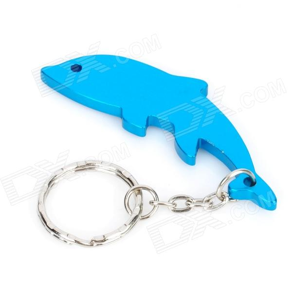 Whale Shaped Bottle Opener Keychain - Random Color
