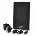 9600mAh Mobile External Power Battery Charger with Adapters - Black