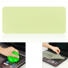 Universal Laptop Keyboard Protective Film + Cleaning Compound Cleaner Set - Transparent Yellow