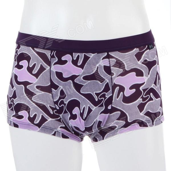 Men's Soft Collagen Fiber Energy Little Bird Brief Underwear - Purple (Size-M)
