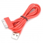 USB Data Cable for iPhone 4 / 4S - Red (100cm-Length)