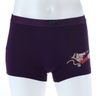 Men's Soft Collagen Fiber Energy Kungfu Panda Monkey Brief Underwear - Burgundy (Size-M)