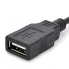 Micro USB 5-Pin Male to USB Female Adapter Cable for Laptop / Notebook - Black