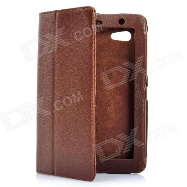 Protective PU Leather Case for Samsung Galaxy Tab P3100 - Brown protective pu leather case for samsung galaxy tab 2 7 0 p3100 camouflage green
