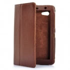 Protective PU Leather Case for Samsung Galaxy Tab P3100 - Brown