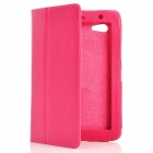 Protective PU Leather Case for Samsung Galaxy Tab P3100 - Deep Pink