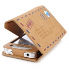 Stylish Envelope Style Protective PU Leather Case for Iphone 4 / 4S - Brown