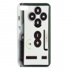 Gaming Controller Style Protective PC Back Case for Iphone 4 / 4S - White + Black