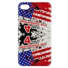 U.S. Independence Day Style Protective PC Back Case for iPhone 4 / 4S - Red + Blue + White + Black