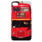 Bus Pattern Protective PC Back Case for Iphone 4 / 4S - Red + Black