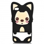 Cute Cartoon Ali Style Protective Silicone Case for Iphone 4 / 4S - Black