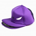 Outdoor Cute Shark Mouth Sun Hat Cap - Purple