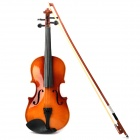 Instrument Wood Case 4-String Violin w/ Horse Hair Bow and Rosin