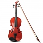Instrument Violin w/ Horse Hair Bow and Rosin - Coffee (Size-S)