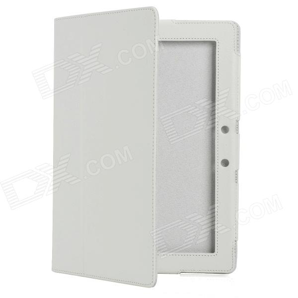 Protective PU Leather Case for Asus Eee Pad TF300 - White asus eee pc t91 в минске