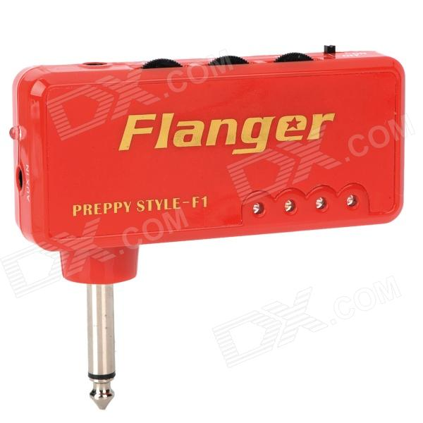 Mini Flanger Miniature Headphone Guitar Amplifier - Red