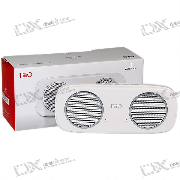 FiiO S3 Portable Rechargeable SD/SDHC Card MP3 Playing 2.4W Speaker with Line-In/Out (White)