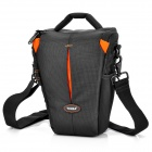 TONBA Nylon Water Resistant Camera Bag - Schwarz + Orange (24 x 16,5 x 12,5 cm)
