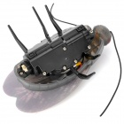iPhone/iPad/iPod Touch Control Rechargeable Fluorescent R/C Robot Beetle Toy - Black + Grey