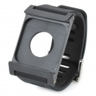 LunaTik Silicone Watch Band Case w/ Screen Protector Film for iPod Nano 6 - Black