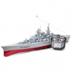 1:360 Rechargeable 4-CH R/C Bismarck Warship Battleship - Grey + Red