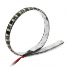 2W 32x3528 SMD LED White Light Car Decoration / Daytime Running Flexible Strip Lamp (12V)