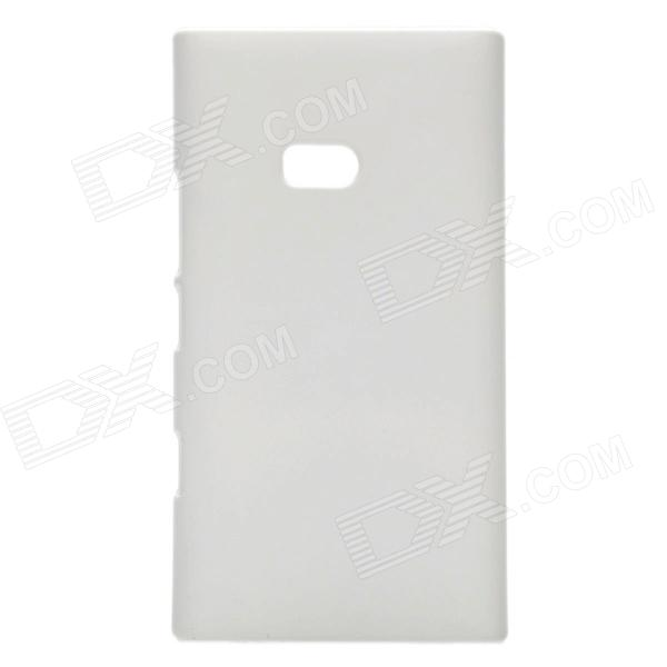 Protective PVC Plastic Hard Case for Nokia Lumia 900 - White