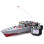 Dual Propeller Rechargeable 4-CH R/C Warship - Grey