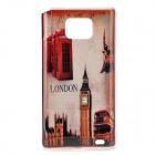 London Big Ben Pattern Protective PE Case for Samsung i9100 Galaxy S2 - Red