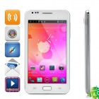 "STAR I9220+ Android 4.0 WCDMA Smartphone w/5.0"" Capacitive Screen, GPS,TV, WiFi and Dual-SIM - White"